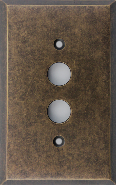 Aged Antique Brass (MA) & Aged Antique Brass (MA) | Push button light switches and cover plates